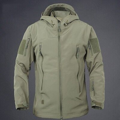 Waterproof Men's Winter Tactical Jackets Soft Shell Hiking Hunting Warm Coats