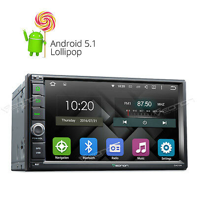 "Quad-Core Android 5.1 Double 2 Din 7"" Car Stereo GPS Sat Nav FM Radio WiFi-3G 8"
