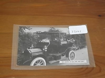 Old  postcard our ref#23045 EARLY MOTOR CAR 1910