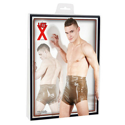 Herren LATEX Windel Slip Shorts Pants rauchfarbig Gr.S M L XL 2XL 29501703700