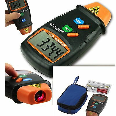 Handheld LCD Digital Laser Photo Tachometer Non Contact RPM Tach Tester Meter@Z