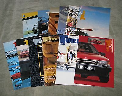A Collection Of Turbo Magazines (Dutch Saab Promotional Magazines)