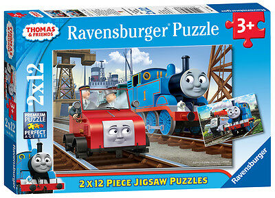 07568 Ravensburger Thomas 2x12pc [Children's Jigsaw Puzzle] New in Box!