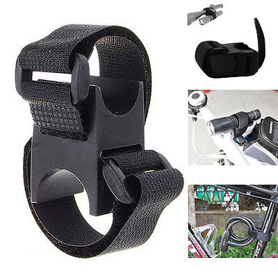Flashlight Holder Handlebar Bike Bicycle Mount Bracket Clamp Lockblock Black
