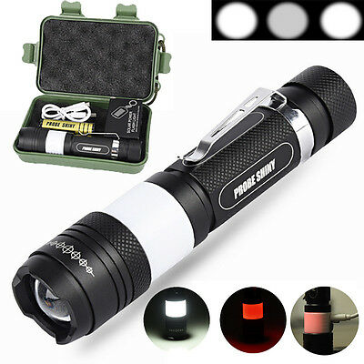 5000LM XML T6 LED Tactical Flashlight Zoomable Military Torch Light Lamp Sets