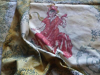 Busby & Busby Cotton Interiors Fabric Musical French Toile de Jouy 'Serenata'