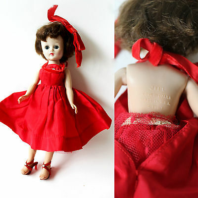 vintage Vogue 1950s Jill Doll in Tagged Outfit Heels Stockings Stamped 50s dress
