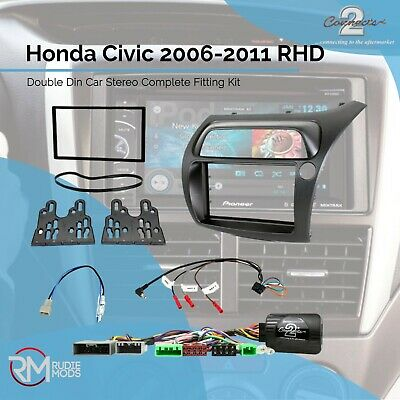 Honda Civic 2006-2011 RHD Double Din Car Stereo Complete Fitting Kit CTKHD01