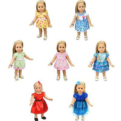 Adorable Fancy Dress Clothing Accs for 18inch American Girl Our Generation Dolls