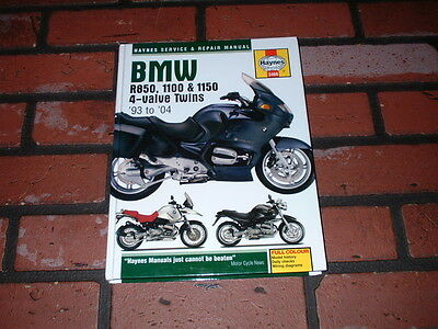 HAYNES MANUAL FOR BMW R850 R1100 & R1150 4-VALVE TWINS. 1993 to 2004