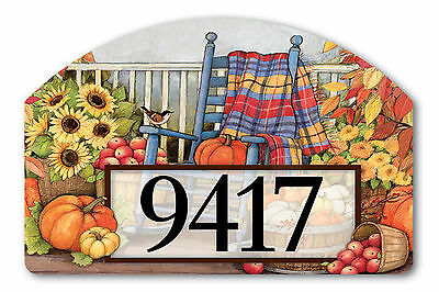 Autumn Porch Magnetic Yard DeSign & Address Markers