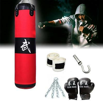 Empty Boxing Punching Bag Heavy MMA Training Fitness Durable Sand Pouch Bag