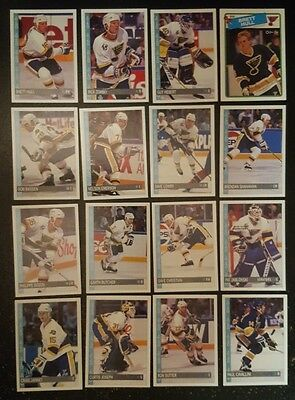 1992-93 OPC ST.LOUIS BLUES Select from LIST NHL HOCKEY CARDS O-PEE-CHEE