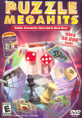 Puzzle Megahits 50,000 Puzzle Game Variations NEW PC