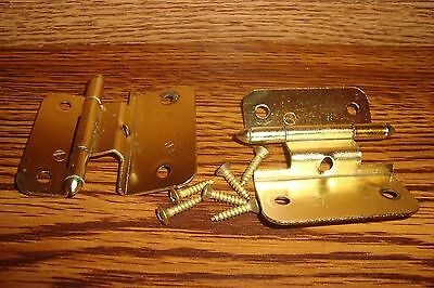 #2 Polished Brass Amerock BP7697-3 Non-Self Closing Hinges with screws * New USA