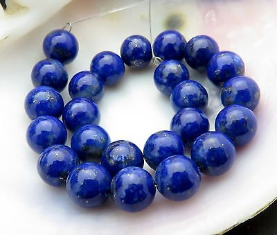 24 BEAUTIFUL ROYAL BLUE & GOLD SPECKLING LAPIS ROUND 6.2-6.4mm BEADS 43.9cts