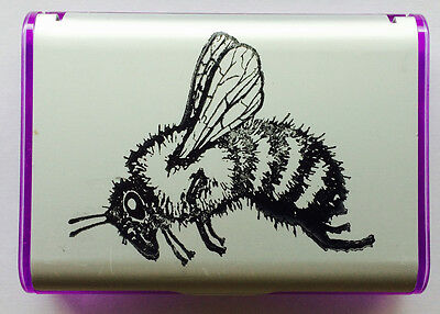 "Portable BUSINESS CARD CASE With HONEY BEE IMPRINT Handy/Sturdy/ 4""x3""x3/4"" L@@K"