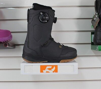 New 2017 Ride Lasso Tongue Tied Boa Snowboard Boots Mens Size 9 Black