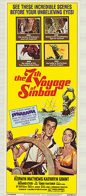 The 7th VOYAGE Of Sinbad 1975 Re-issue 14x36 Rolled Insert Movie Poster
