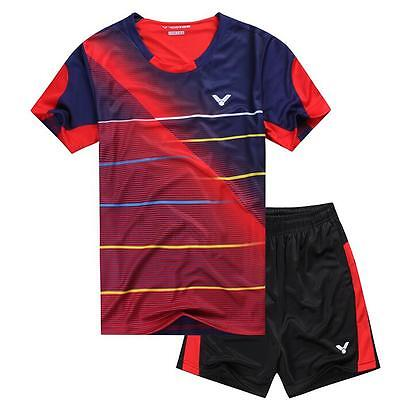 2016 Tennis men's Tops table tennis clothing Set T-shirt+shorts 2107