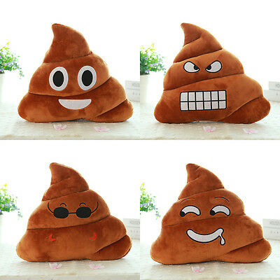 Mini Saliva Emoji Emoticon Plush Cushion Poop Shape Pillow Doll Toy Throw Pillow
