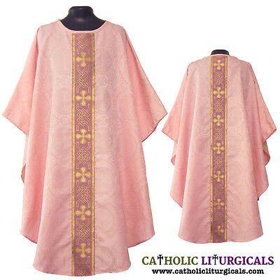 NEW Rose Clergy gothic vestment & mass  stole set, chasuble, casula, casel