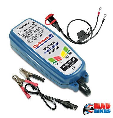OptiMate 2, 12V Vehicle ATV, Motorcycle Battery Maintainer Optimiser Charger