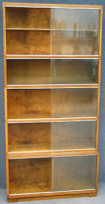 Minty Oak 5 Tier Stacking Sectional Bookcase / Cabinet