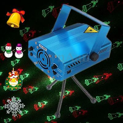 MUSIC ACTIVE Mini LED R&G Stage Laser Projector Disco Light Xmas Tree Bell Lamp