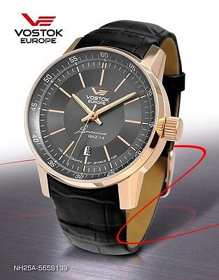 Vostok Europe GAZ 14 Automatic with trigalights nh25a-5659139 NEW Rose Gold