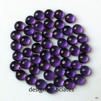 African Amethyst 10 Mm Round Cabochon All Natural