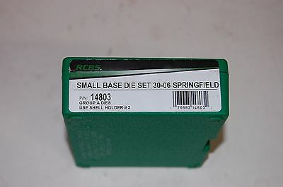 RCBS 30-06 Springfield Reloading SMALL BASE Die Set 14803 FREE PRIORITY SHIPPING