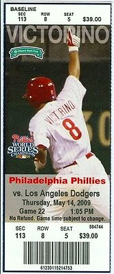2009 Phillies vs Dodgers Ticket: James Loney HR/Russell Martin hit a tiebreaking