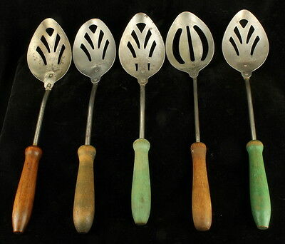 Antique Rumford Baking Powder Advertising Premium 5 Pc Serving Spoon Collection