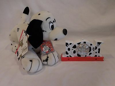 101 / 102 Dalmatians Disney Store exclusive Plush Rare HTF + Desk Snowglobe