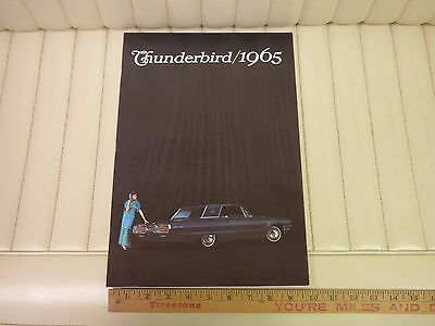 1965 Ford Thunderbird T-Bird Prestige Car Sales Brochure
