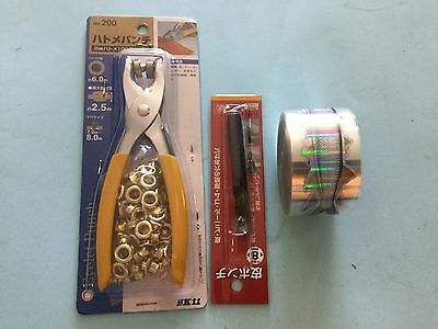 Teaser Strip Holographic Garfish 30 M Roll d.i.y. with handtool eyelets n punch