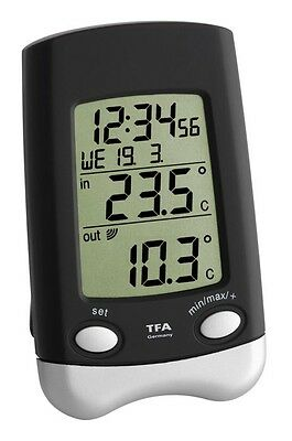 Wireless Thermometer Wave Black Tfa 30.3016.01 Temperature Station Weather