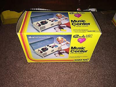 Marx Toys Sindy Music Center Transistor Radio Complete In Box -Works