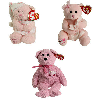 TY Beanie Babies - BABY GIRL the Bears (Set of 3 Styles)(6.5-8.5 inch) - MWMTs