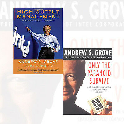 Andrew Grove 2 Books Collection Set High-Output Management [Paperback], NEW