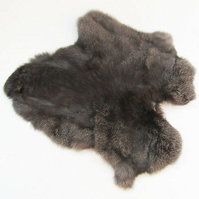 authentic large soft GENUINE RABBIT SKIN FUR PELT real big tanned taxidermy hide