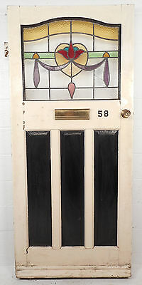 Antique Vintage Stained Glass Door (1453)NJ
