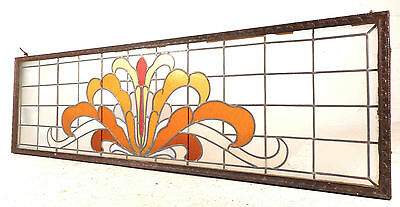 Large Vintage Stained Glass Window (1512)NJ