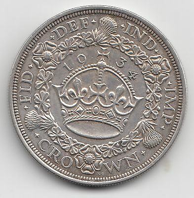 Extremely Rare George V 1934 Silver Wreath Crown 5/- Only 932 issued