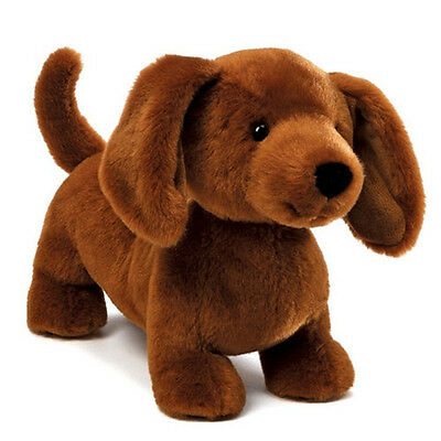 New GUND Plush Toy Stuffed Animal DACHSHUND Weiner Puppy Dog Soft Brown Tan