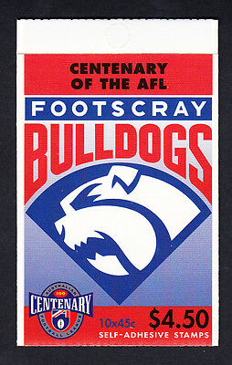 Australia 1996 Centenary of AFL Footy Booklet  10 Stamps Footscray Bulldogs
