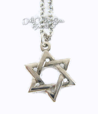 Doll Clothes fits American Girl Silver Tone Star Of David Necklace