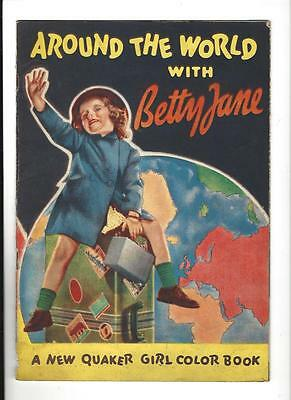 AROUND THE WORLD With BETTY JANE Coloring Book 1936 Quaker Rugs Giveaway