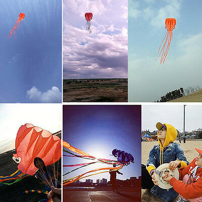 4m Octopus Kite with Handle Line Colors Outdoor Fun Sports Games Kids Toy